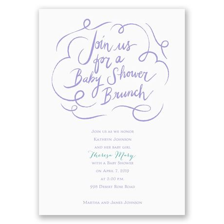 Baby Shower Brunch - Baby Shower Invitation