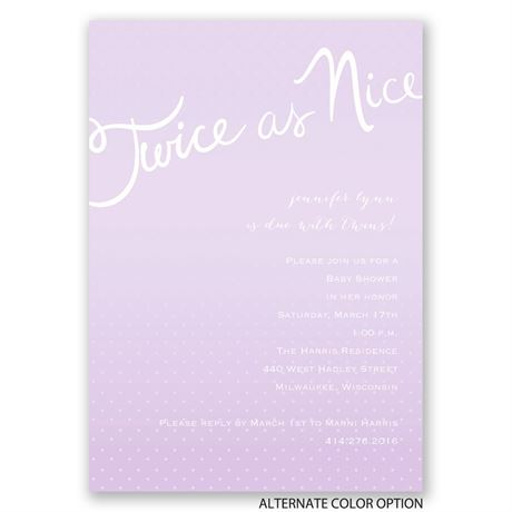 Twice as Fun - Twins Baby Shower Invitation