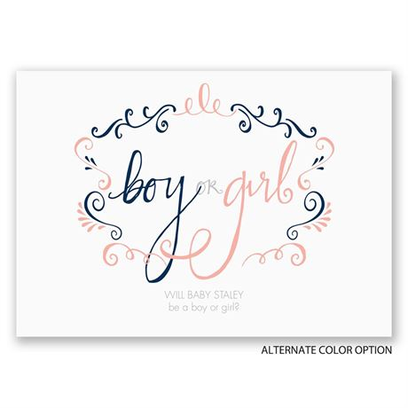 Sensational Swirls - Gender Reveal Invitation