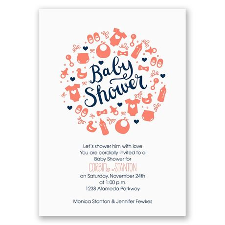 Baby Bubble Baby Shower Invitation