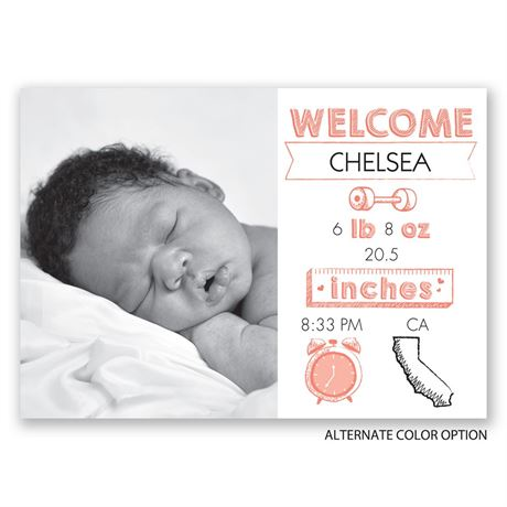 All the Details - Birth Announcement
