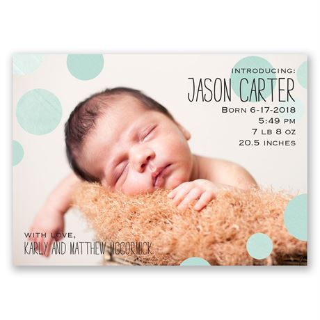 Dots Cute! Birth Announcement Magnet