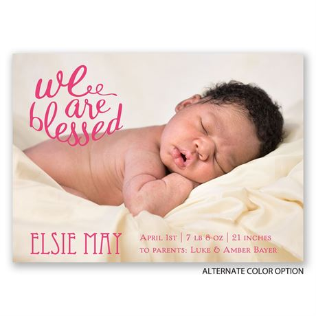 We Are Blessed - Birth Announcement Magnet