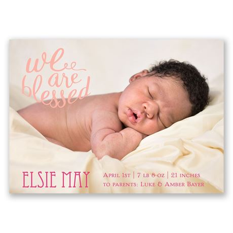 We Are Blessed Birth Announcement Magnet