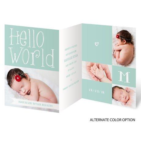 Hello Baby - Mini Birth Announcement