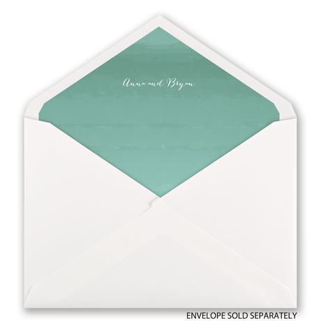 Sea Beauty - Aqua - Designer Envelope Liner