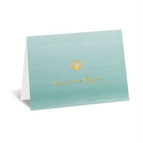 Sea Beauty - Aqua - Foil Thank You Card