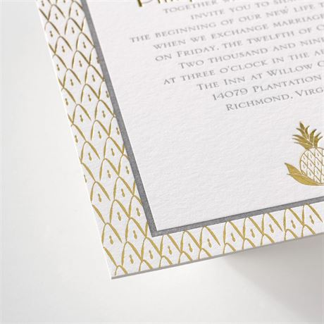 Sweet Surprise - Letterpress and Foil Invitation