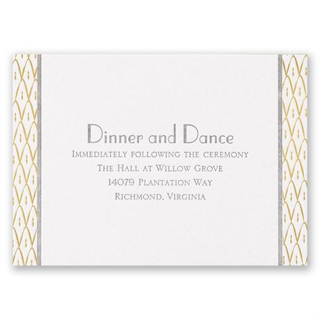 Sweet Surprise Letterpress and Foil Reception Card