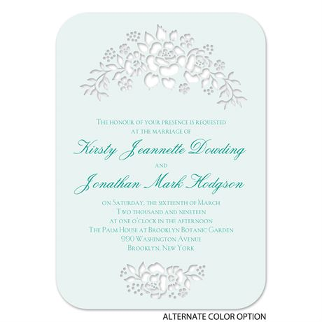 Floral Extravagance - Laser Cut Invitation