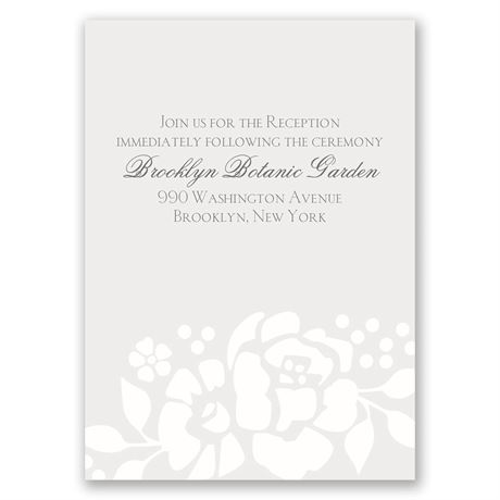 Floral Extravagance Reception Card