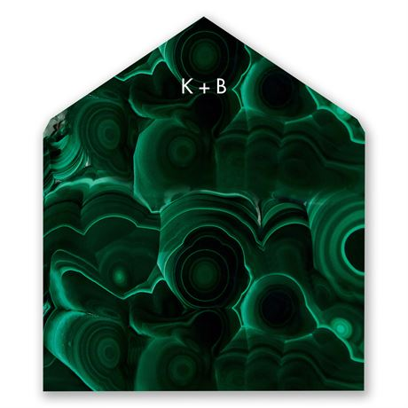 Smooth Malachite Designer Envelope Liner