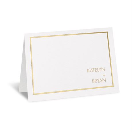 Gold Lining Thank You Card