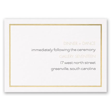 Gold Lining Reception Card