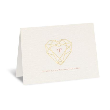 Jewel of My Heart Foil Thank You Card