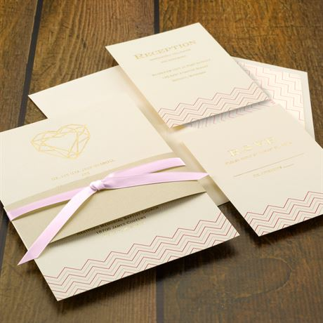 Jewel of My Heart - Foil Invitation