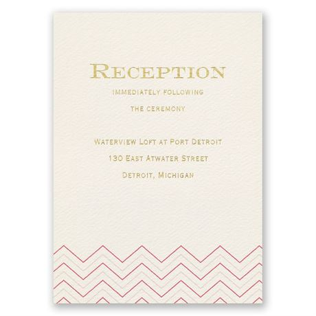 Jewel of My Heart Foil Reception Card