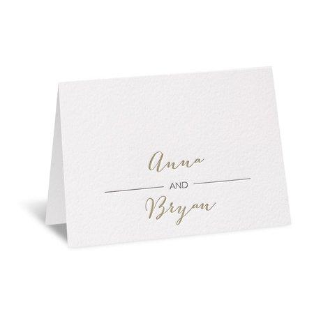 Bold & Gold Letterpress Thank You Card