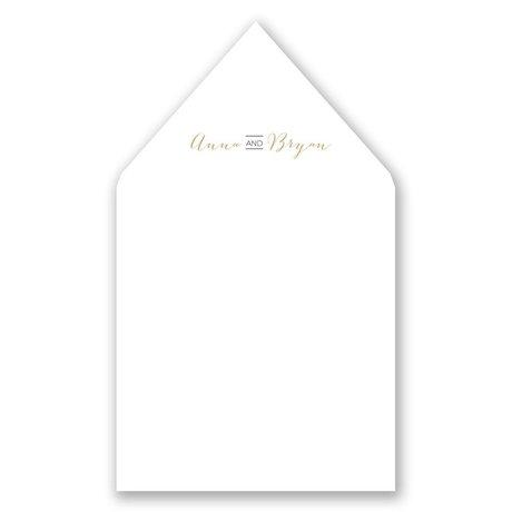 Bold & Gold Designer Envelope Liner