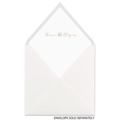 Bold & Gold - Designer Envelope Liner