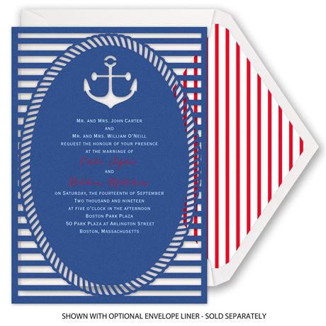 Nautical Style - Laser Cut Invitation