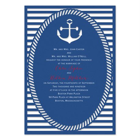 Nautical Style Laser Cut Invitation