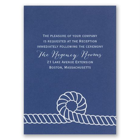 Nautical Style Reception Card