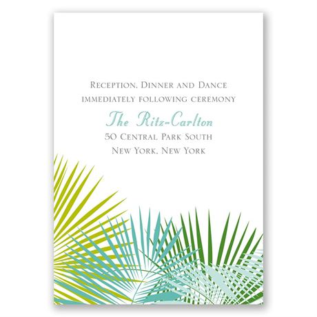 Beach Beauty Reception Card