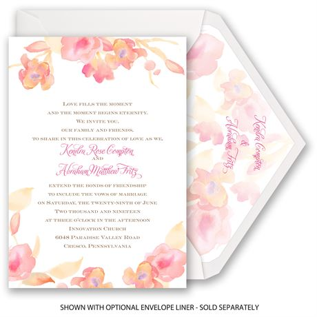 English Rose - Invitation