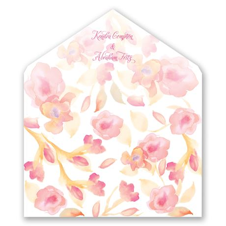 English Rose - Designer Envelope Liner