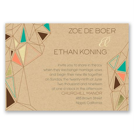 Pretty Prisms - Gold - Foil Invitation