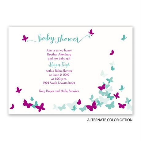 Butterfly Dreams - Baby Shower Invitation