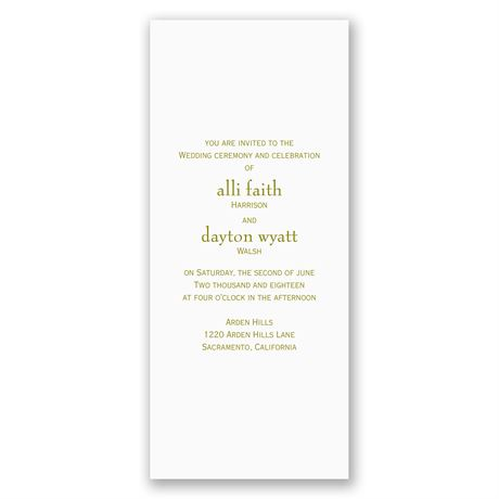 Simple Elegance - Laser Cut Invitation