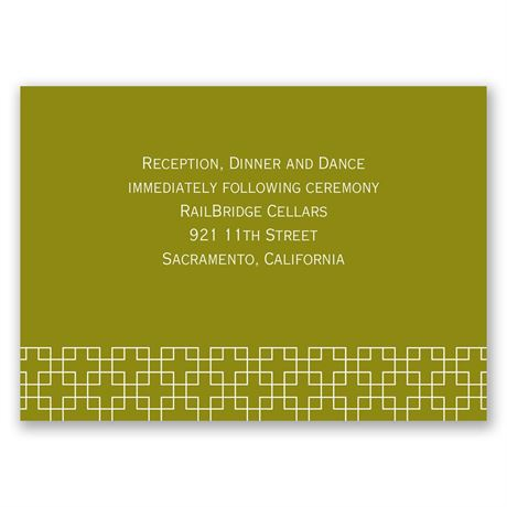 Simple Elegance Reception Card