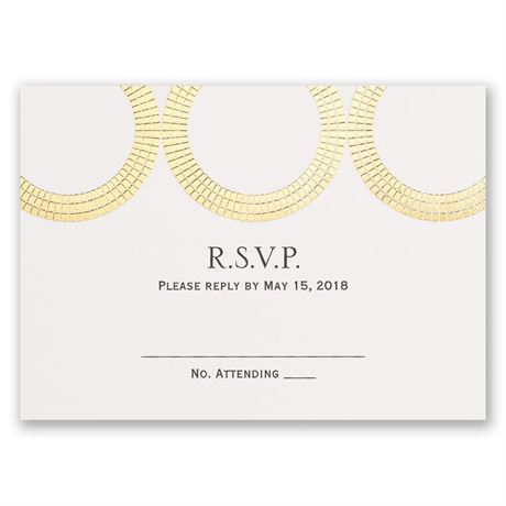 Mosaic Rings - Gold - Foil Response Card
