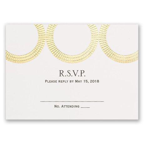 Mosaic Rings - Gold - Foil Response Card