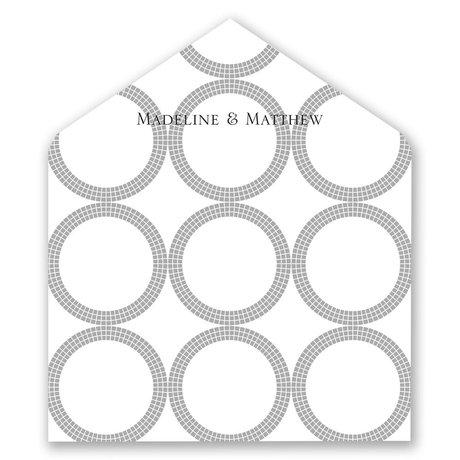 Mosaic Rings - Designer Envelope Liner
