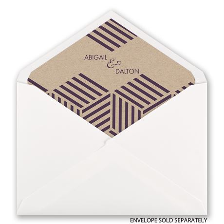 Striped Illusion - Designer Envelope Liner