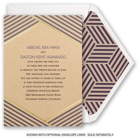 Striped Illusion - Foil Invitation