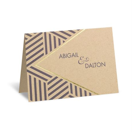 Striped Illusion - Foil Thank You Card