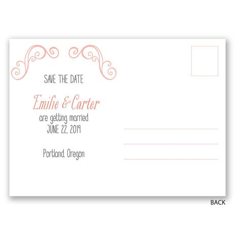 Swirl Frame - Save the Date Postcard
