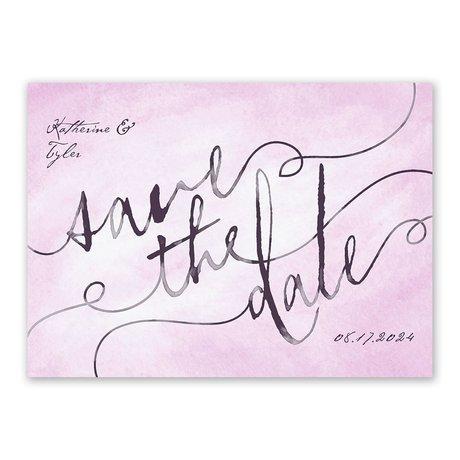 Watercolor Wonder - Save the Date Postcard