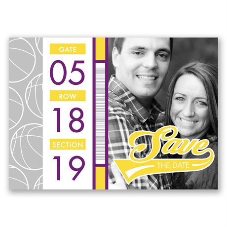 Basketball Lovers - Save the Date Postcard
