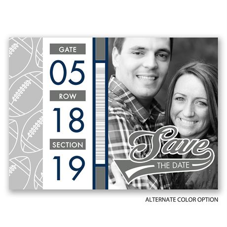 Football Lovers - Save the Date Postcard