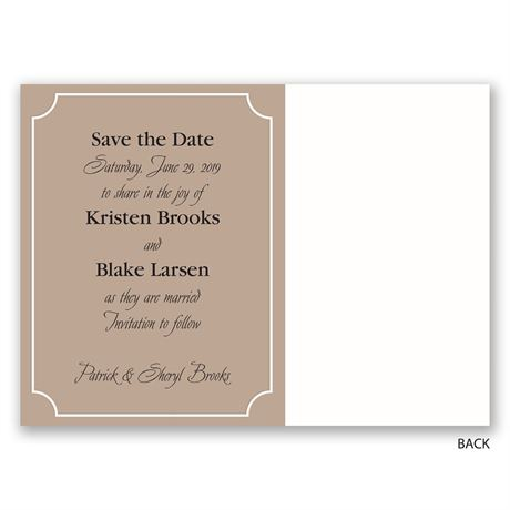 Photo Wall - Save the Date Postcard