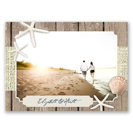 By the Beach - Save the Date Postcard
