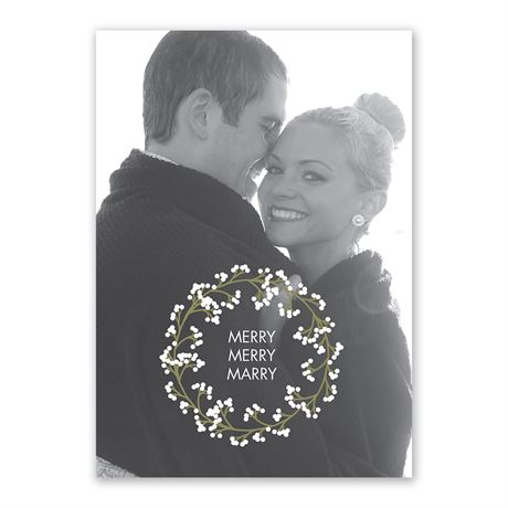 Wedding Wreath Holiday Card Save the Date