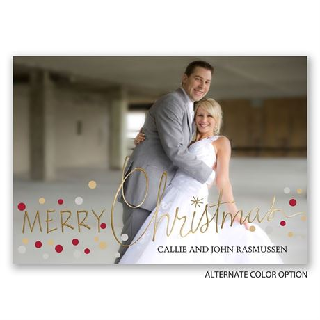 Christmas Lights - Gold Foil - Holiday Card