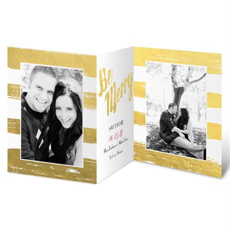 Be Merry - Faux Foil - Holiday Card Save the Date
