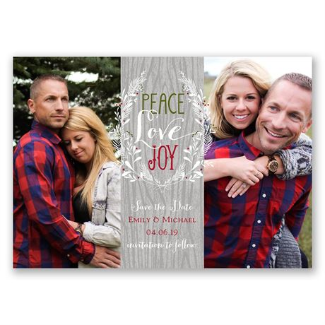 Naturally Joyful Holiday Card Save the Date